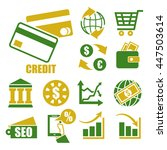 credit icon set | Shutterstock .eps vector #447503614