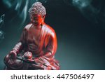 buddha statue decorated with... | Shutterstock . vector #447506497