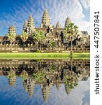 angkor wat temple  siem reap ... | Shutterstock . vector #447507841