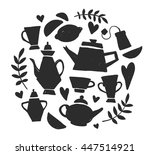 tea party handsketched doodle... | Shutterstock .eps vector #447514921