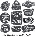 set of hand written lettering... | Shutterstock .eps vector #447515485