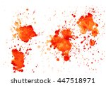 colorful abstract watercolor... | Shutterstock .eps vector #447518971