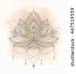 vector ornamental lotus flower  ... | Shutterstock .eps vector #447519559