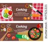 ingredients for cooking and... | Shutterstock .eps vector #447521221