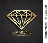 3d diamond shape gold logo  ... | Shutterstock .eps vector #447522685