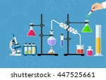 medical laboratory. research ... | Shutterstock . vector #447525661