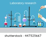 chemists scientists equipment.... | Shutterstock . vector #447525667