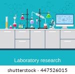 chemical laboratory science and ... | Shutterstock . vector #447526015
