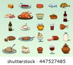 food icons vector set | Shutterstock .eps vector #447527485