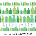 seamless horizontal borders... | Shutterstock .eps vector #447528109