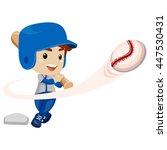 vector illustration of baseball ...   Shutterstock .eps vector #447530431