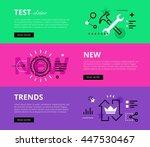 flat line web banners of... | Shutterstock .eps vector #447530467
