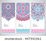 indian floral paisley medallion ... | Shutterstock .eps vector #447541561