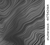 abstract monochrome wavy vector ... | Shutterstock .eps vector #447542464