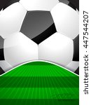 abstract soccer brochure... | Shutterstock .eps vector #447544207