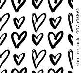 vector hand painted seamless... | Shutterstock .eps vector #447546865
