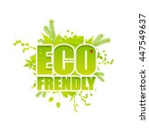 creative eco frendly lettering. ... | Shutterstock .eps vector #447549637