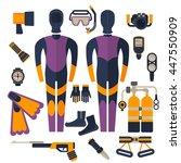 a full set of clothing ... | Shutterstock .eps vector #447550909