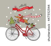 Romantic Christmas Card With A...
