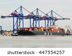klaipeda lithuania june 28 msc... | Shutterstock . vector #447554257