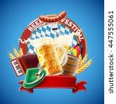 beer fest | Shutterstock .eps vector #447555061
