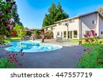 backyard with small beautiful... | Shutterstock . vector #447557719