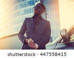 portrait of stylich african... | Shutterstock . vector #447558415
