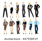 group of people in formal... | Shutterstock .eps vector #447558919