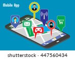 different mobile applications...   Shutterstock .eps vector #447560434