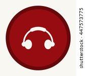headphone icon | Shutterstock .eps vector #447573775