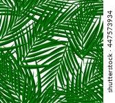 seamless palm tree pattern.... | Shutterstock .eps vector #447573934