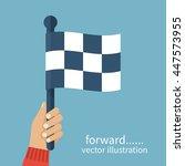 racing flag in hand umpire....   Shutterstock .eps vector #447573955