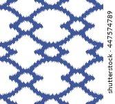 faux tribal pattern seamless... | Shutterstock .eps vector #447574789