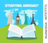abroad studying foreign... | Shutterstock .eps vector #447577771