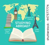 abroad studying foreign... | Shutterstock .eps vector #447577774