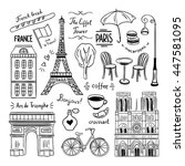 Hand Drawn Paris And France...