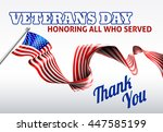 a veterans day american flag... | Shutterstock .eps vector #447585199