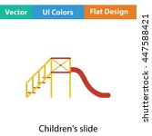 children's slide icon. flat...
