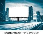 blank billboard on the highway... | Shutterstock . vector #447591919
