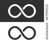 infinity icon. vector... | Shutterstock .eps vector #447599215