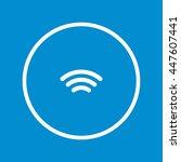 wifi icon | Shutterstock .eps vector #447607441