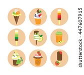 set ice cream  | Shutterstock .eps vector #447607915
