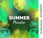 vector vintage summer paradise... | Shutterstock .eps vector #447609697