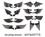 spread wings design elements... | Shutterstock .eps vector #447609775