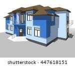 3d illustration  abstract... | Shutterstock . vector #447618151