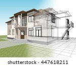 3d illustration  abstract... | Shutterstock . vector #447618211