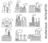 factory icons set thin line... | Shutterstock .eps vector #447618754