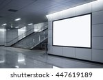 billboard banner signage mock... | Shutterstock . vector #447619189