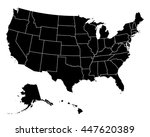 map of usa | Shutterstock .eps vector #447620389