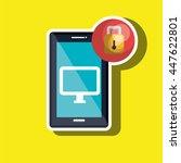smartphone  with padlock ... | Shutterstock .eps vector #447622801